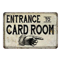 Entrance to Card Room Vintage Look Chic Distressed 8x12108120020167