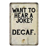 Want to hear a joke? Vintage Look Chic Distressed 8x12108120020225