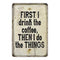 First, I drink the coffee, then Vintage Look Chic Distressed 8x12108120020228