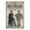 Restroom Men & Women Vintage Look Chic Distressed 8x12108120020245