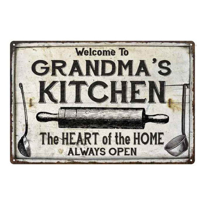 GRANDMA's Kitchen Farmhouse Sign Gift Personalized 8x12 Metal 108120033003