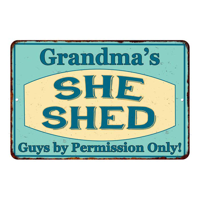 Grandma's SHE SHED Personalized Metal Sign Wall Decor Gift 8x12 108120039003