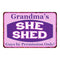 Grandma's Purple & Pink SHE SHED Vintage Sign 8x12 Wall Décor 8x12 108120040003