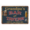 Grandpa's Green Bar & Tavern Personalized Rustic Sign Decor 8x12 108120047003