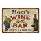 Mom's Rustic Wine Bar Wall Décor Kitchen Gift  8x12 Metal 108120056002