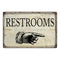 Restrooms…right Funny Bathroom Gift 8x12 Metal Sign 108120061014