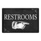 Restrooms…Right Arrow Funny Bathroom 8x12 Metal Sign 108120061027