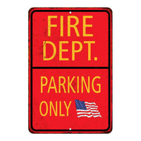Fire Department Parking Only Military Police 8x12 Metal Sign 108120062001
