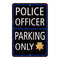 Police Officer Parking Only Military Police 8x12 Metal Sign 108120062002