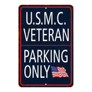 U.S.M.C Marine Corps Parking Only Military Police 8x12 Metal Sign 108120062006