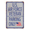 U.S. Air Force Parking Only Military Police 8x12 Metal Sign 108120062007