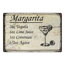 Margarita Ingredients Bar Pub Alcohol Gift 8x12 Metal Sign 108120064022