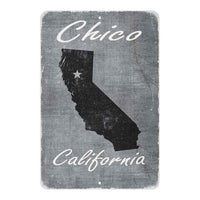 Grey Chico California Landmarks Gift 8x12 Metal Sign 108120066005
