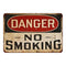 Danger No Smoking Sign Vintage Wall Décor Signs Art Decorations Tin Gift