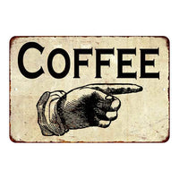 Coffee That Way Sign Vintage Wall Décor Signs Art Decorations Tin Gift
