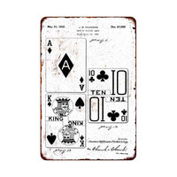 Card Ace Patent Sign Vintage Wall Décor Signs Art Decorations Tin Gift