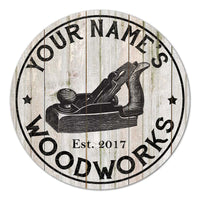 Personalized Woodworks Farmhouse Rustic Style White Wood Sign B3-00140017001