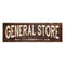 General Store Grocery Mercantile Rustic Looking Wood Sign Wall Décor Gift 6 x 18 Wood Sign B3-06180028087