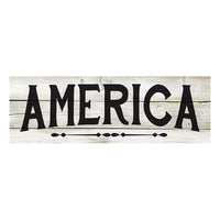America Chic White Farmhouse Wood Sign Wall Décor Gift 6 x 18 Wood Sign B3-06180028128