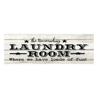 Neverending Laundry Room Chic White Farmhouse Wood Sign Wall Décor Gift 6 x 18 Wood Sign B3-06180028163