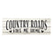 Country Roads Take Me Home Chic White Farmhouse Wood Sign Wall Décor Gift 6 x 18 Wood Sign B3-06180028181