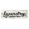 Laundry Gathers Here Chic White Farmhouse Wood Sign Wall Décor Gift 6 x 18 Wood Sign B3-06180028195