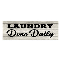 Laundry Don't Daily Chic White Farmhouse Wood Sign Wall Décor Gift 6 x 18 Wood Sign B3-06180028199