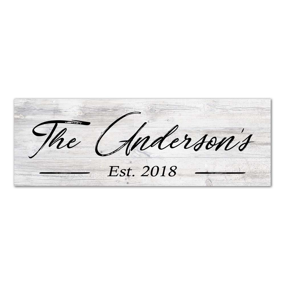 Your Name Personalized Wood Sign Rustic Looking Wall Décor Wedding Gift B3-06180063001
