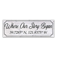 Where Our Story Began Personalized Longitude, Latitude Wood Sign Wedding Gift B3-06180064001