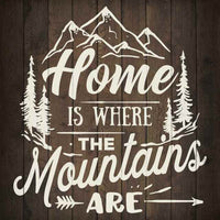 Home is Where Mountains Are Inpiration Rustic Looking Wood Sign Wall Décor Gift