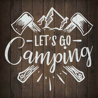Let's Go Camping Inpiration Camping Rustic Looking Wood Sign Wall Décor Gift