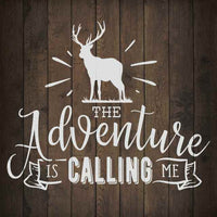 The Adventure is Calling Inpiration Camping Rustic Looking Wood Sign Wall Décor