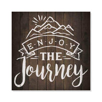 Enjoy the Journey Inpiration Camping Rustic Looking Wood Sign Wall Décor Gift 8 x 8 Wood Sign B3-08080061015