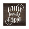 Faith Family Farm Rustic Looking Inspiration Farmhouse Wood Sign Wall Décor 8 x 8 Wood Sign B3-08080061030