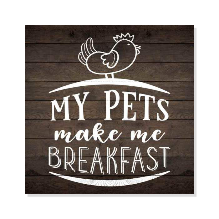 Pets Make Me Breakfast Rustic Looking Inspiration Farmhouse Wood Sign Wall Décor Wood Sign B3 08080061037