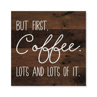 But First Coffee Rustic Looking Inspiration Cafe Wood Sign Wall Décor Gift 8 x 8 Wood Sign B3-08080061046