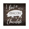 Love you like Bacon & Chocolate Rustic Looking Inspiration Wood Sign Wall Décor 8 x 8 Wood Sign B3-08080061052