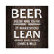 Beer doesn't make you Fat Rustic Looking Inspiration Quote Wood Sign Wall Décor 8 x 8 Wood Sign B3-08080061060