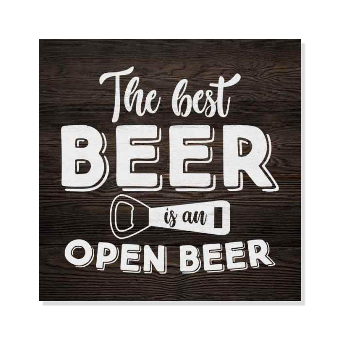 Best Beer Is Open One Rustic Looking Inspiration Funny Wood Sign Wall Décor Wood Sign B3 08080061066