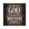 God is With Us, Romans Rustic Looking Inspiration Faith Wood Sign Wall Décor 8 x 8 Wood Sign B3-08080061074