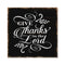 Give Thanks to the Lord Scripture Rustic Looking Faith Wood Sign Wall Décor 8 x 8 Wood Sign B3-08080061080