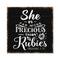 She is More Precious Than, Proverbs Rustic Looking Faith Wood Sign Wall Décor 8 x 8 Wood Sign B3-08080061087