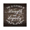 She is Clothed in Strength & Dignity Rustic Looking Faith Wood Sign Wall Décor 8 x 8 Wood Sign B3-08080061089