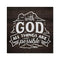 With God all things are Possible Rustic Looking Faith Wood Sign Wall Décor 8 x 8 Wood Sign B3-08080061090