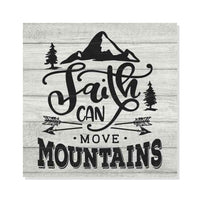 Faith can Move Mountains, Scripture Rustic Looking Faith Wood Sign Wall Décor 8 x 8 Wood Sign B3-08080062049