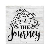 Enjoy the Journey Rustic Looking Camping Outdoors Wood Sign Wall Décor 8 x 8 Wood Sign B3-08080062074