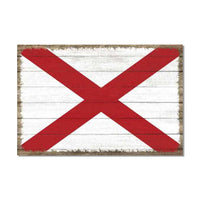 Alabama State Flag Wood Sign Rustic Wall Décor Gift 12x18 B3-12180051001