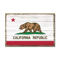 California State Flag Wood Sign Rustic Wall Décor Gift 12x18 B3-12180051005