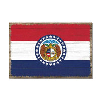 Missouri State Flag Wood Sign Rustic Wall Décor Gift 12x18 B3-12180051025