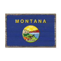 Montana State Flag Wood Sign Rustic Wall Décor Gift 12x18 B3-12180051026